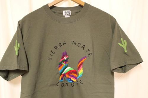 OAXACA(オアハカ) / SIERRA NORTE COYOTE 手刺繍Tシャツ