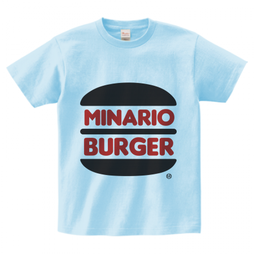 minario / MINARIO BURGER 2 T-SHIRT LIGHT BLUE