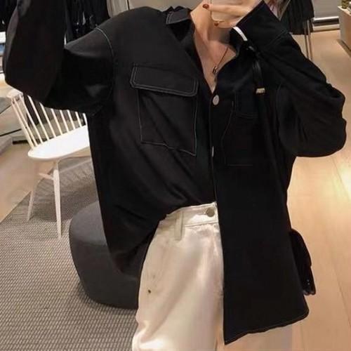 ステッチポケットシャツ シャツ ブラウス 韓国ファッション
