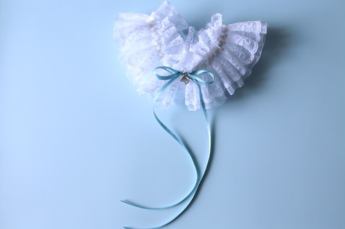 「女神のブルー」ビジュー付きリングガーター