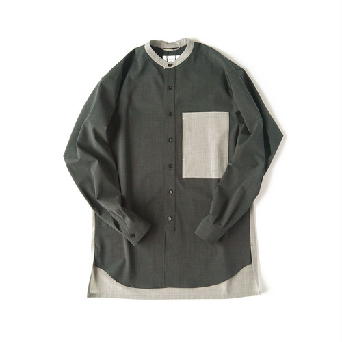 TAUPE TW Cleric Band-collar Shirt / TPM20304002