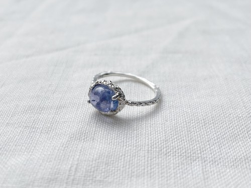 Line ring gem sv925 tanzanite