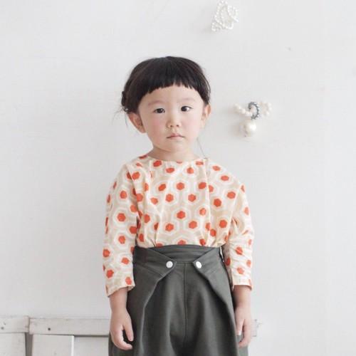 ButtonTuckPants/ツイルガーゼ二重織/カーキ