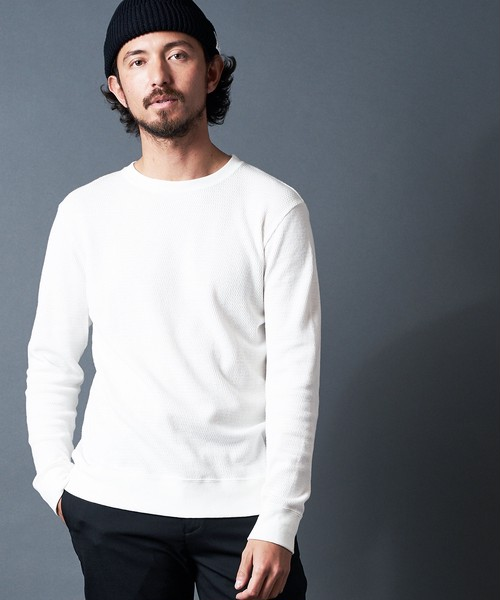 COTTON MILITARY THERMAL KNIT CREW NECK
