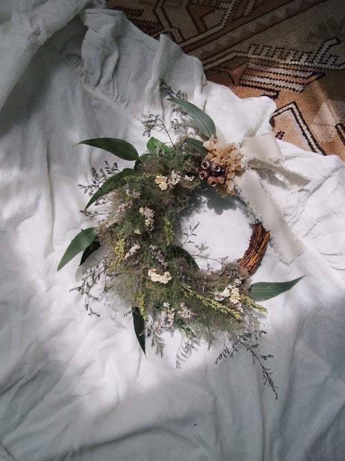 smoke tree wreath【S】ivory