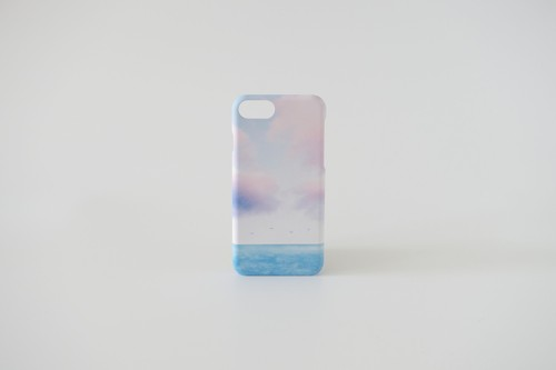 エメラルドブルー色の海と空の、スマホケース