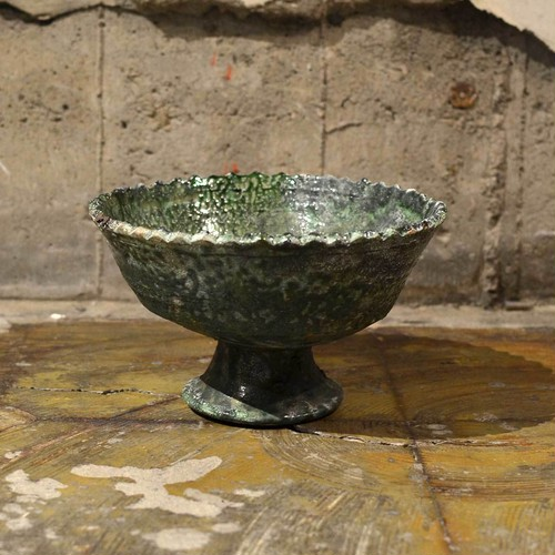 Bowl with Foot_M 〈Green〉-jumelless-