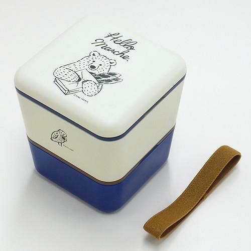 ハローマルシェ 2段ランチBOX パンをおすそわけ