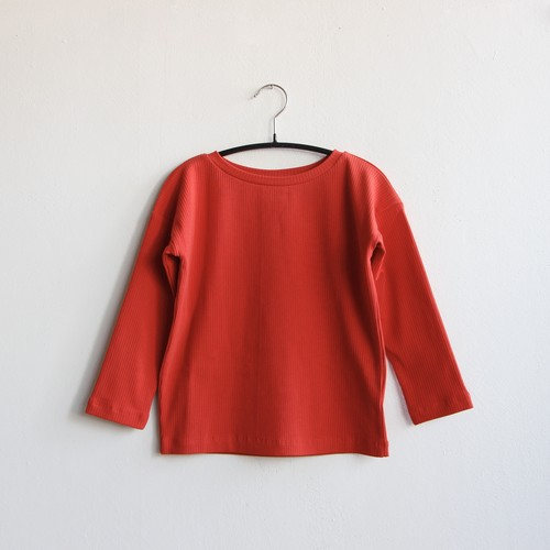 《WAWA 2020AW》LONG TEE / red (rib)