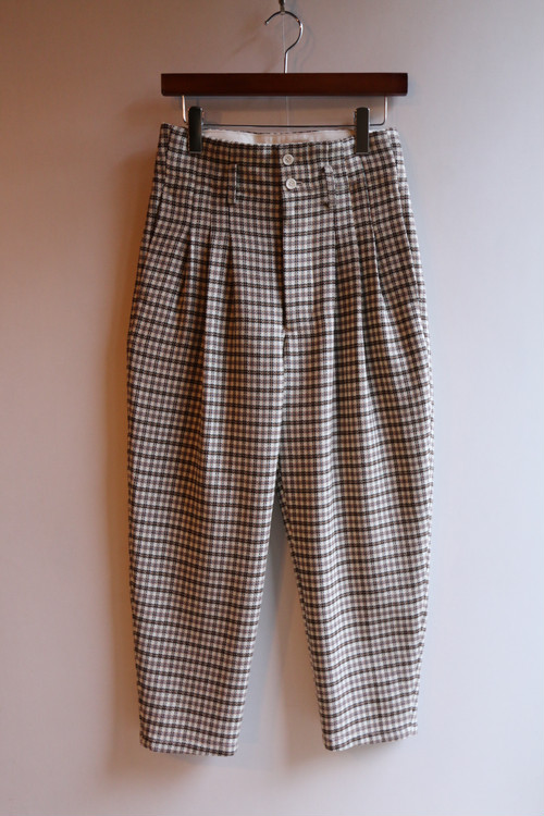 ASEEDONCLOUD/アシードンクラウド Mogamibana Check trousers #192501