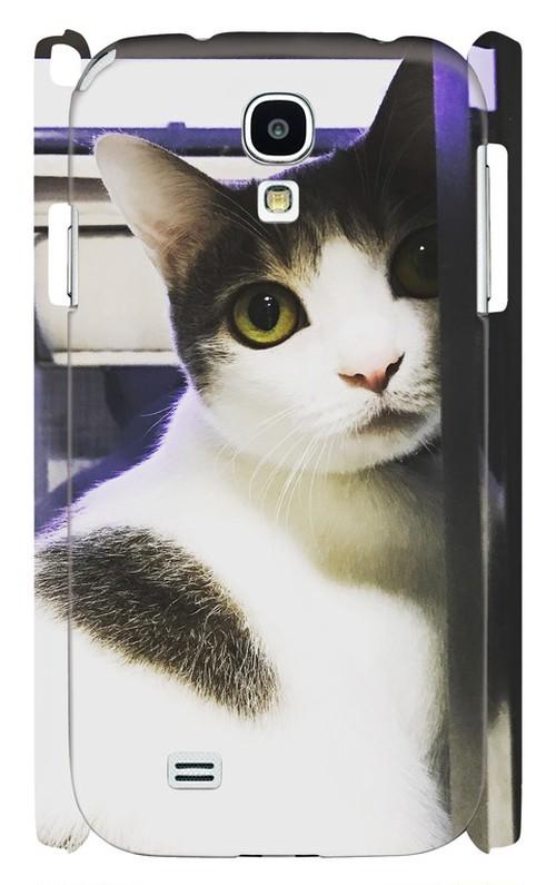 スマホケース Galaxy S4 振り向き猫