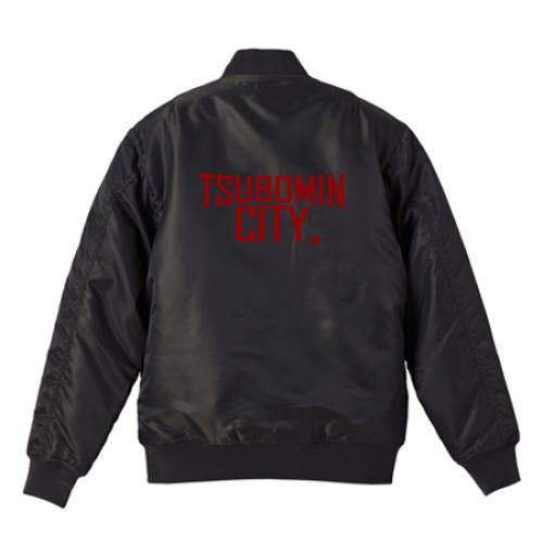 TSUBOMIN / TSUBOMIN CITY MA-1 JACKET BLACK x RED