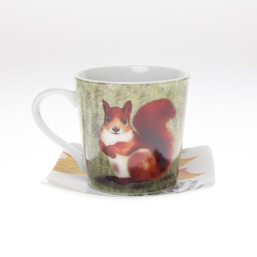 動物シリーズ「リス」のカップ&ソーサー