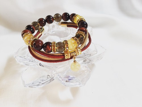 【自信と確信】守り石数珠ブレスレット