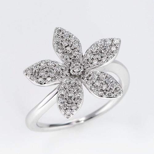 Starflower K18WG Diamond Ring (ダイヤモンド リング)