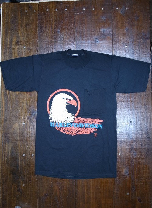 80's JERZEES Harley-Davidson 胸ポケ付き ROBISON T-Shirts(黒)DEAD STOCK ⑦