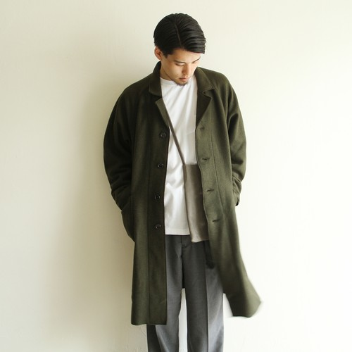 H.UNIT【 mens 】boiled wool atelier coat