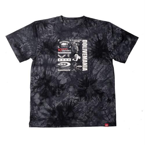 【O.S.P×bassmania】  ミックスデザインタイダイTシャツ [ タイダイブラック ]【限定生産】