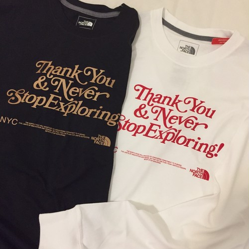 NY限定 The North Face Thank You NYC Long Sleeve Tee