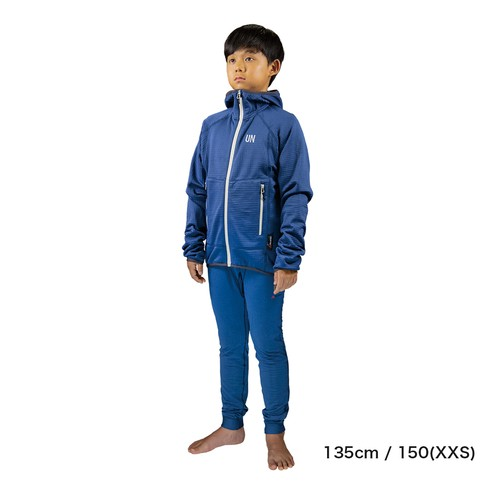 Kids 130 / UN2100 Light weight fleece hoody / Navy