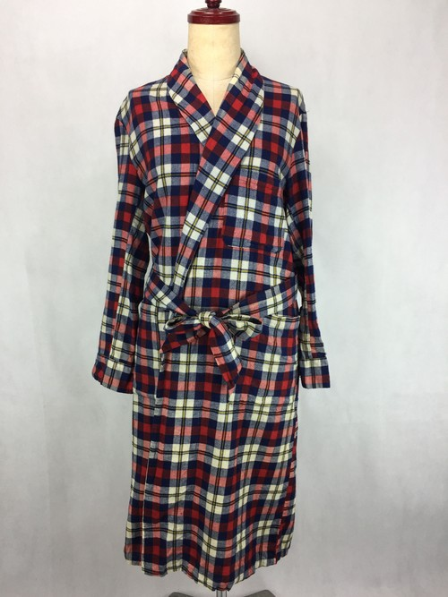 SEARS TRICOLORE COTTON GOWN / ガウン コート 春物 コットン シアーズ ヴィンテージ
