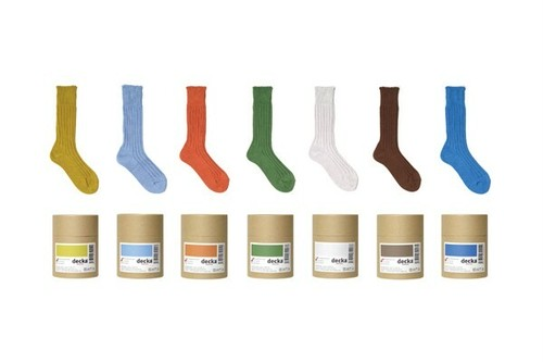 【Women'sSIZE】decka de-01  Cased heavy weight plain socks -1st collections-
