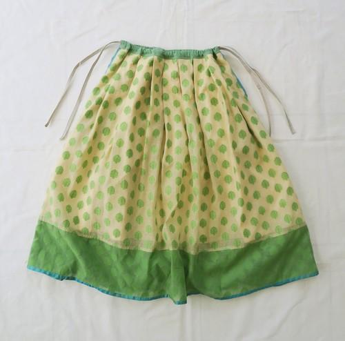 AC200303 ブロケード織の巾着スカート