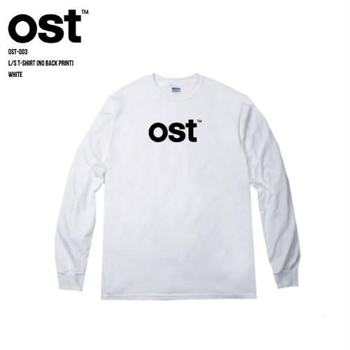 ost™️ L/S T-SHIRT (BACK PRINTなし) WHITE