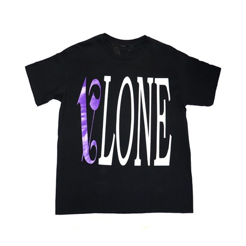 VLONE × PALM ANGELS T-Shirts BLACK × PURPLE
