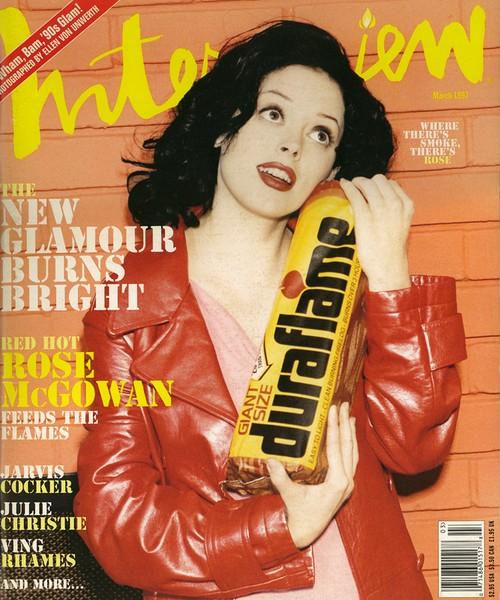 Interview Magazine 1997年3月号 ローズ・マッゴーワン