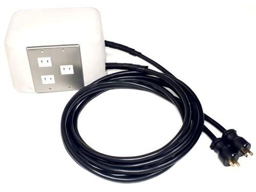 アナログオーディオ用リファレンスアイランド電源コンセントタップ(しろたっぷ)パーツセット INW-01SET
