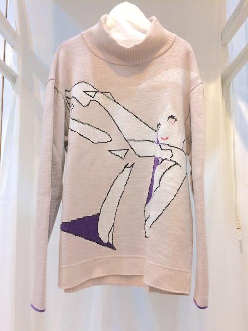 HATRA セーター点 Pink