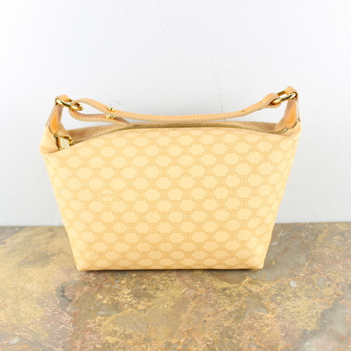 OLD CELINE MACADAM PATTERNED BANITY BAG MADE IN ITALY/オールドセリーヌマカダム柄バニティバッグ