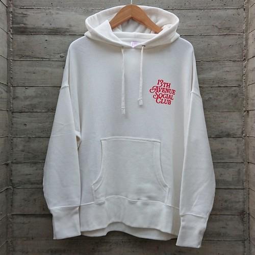 13th Avenue Social Club pullover hoodie col.wht