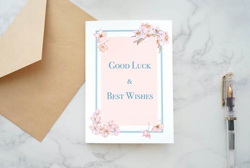 お別れカード -桜のグッドラックカード-