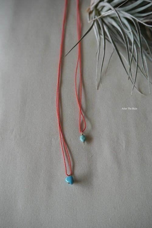 シルクコードとターコイズのネックレス 2種類