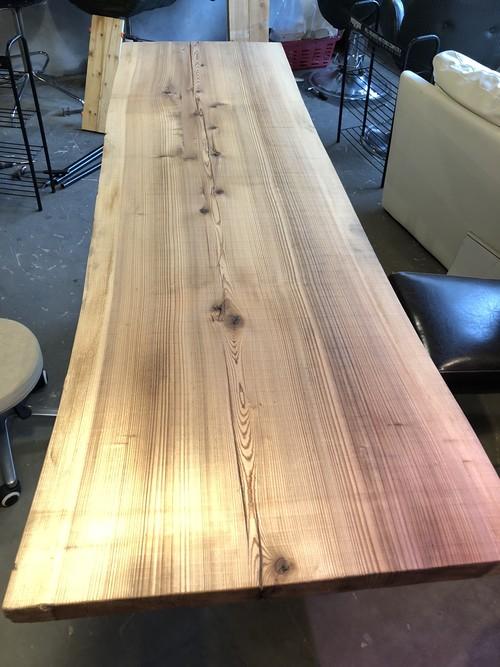 【売り切りSALE!】特大一枚板ダイニングテーブル+ iron脚
