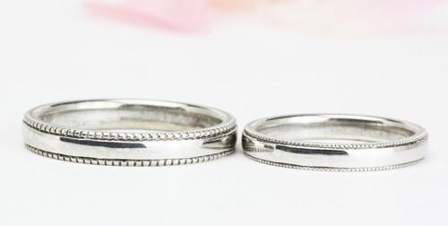 ミル打ち加工結婚指輪