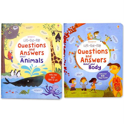 なぜなにしかけ絵本「動物と人間のからだ」2冊セット