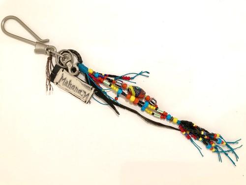 Antique beads Key holder/Mahana noriko/約35cm