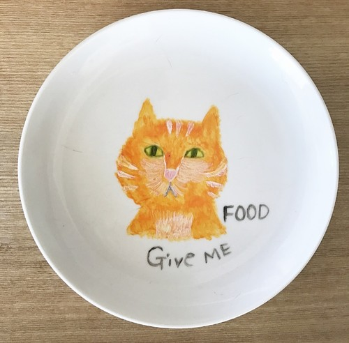Give me food CAT plate オレンジタビー