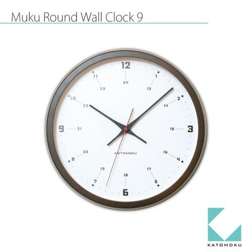 KATOMOKU muku round wall clock 9 km-82BRCS SKP電波時計