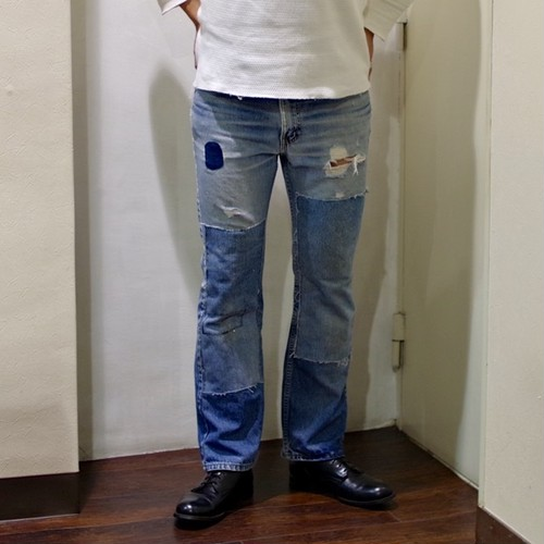 The One and Only / 1990s Levi's 517 Real Damaged Denim / Ripped Jeans / 90年代 一点物 517