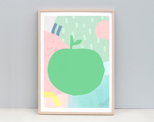 Big Apple / A4 Apple Abstract Art