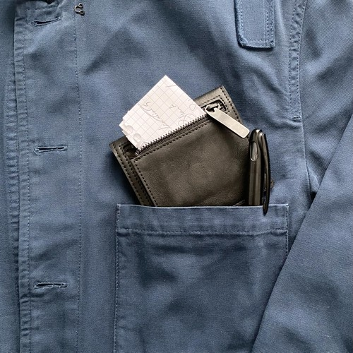 182AWA06 Leather wallet 'compact' コンパクトウォレット