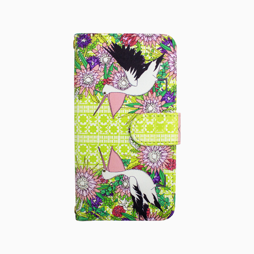 Smartphone case -Wildflower wreath-ミラー&チェーン付きタイプ