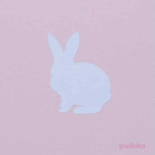 カット済みプラバン(レジン用プレート) ウサギ