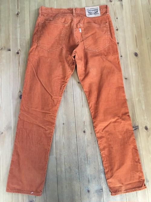 levis リーバイス 511 絶妙カラー コーデュロイパンツ オレンジ ブラウン系 31インチ