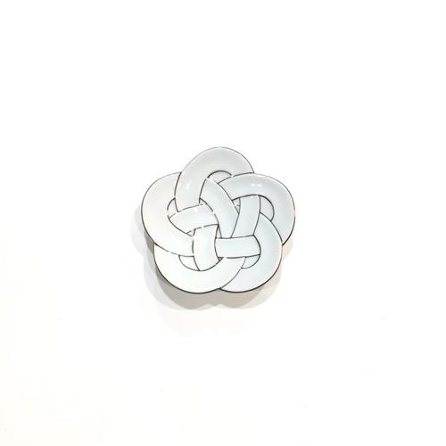 プラチナ線 梅結び 小皿