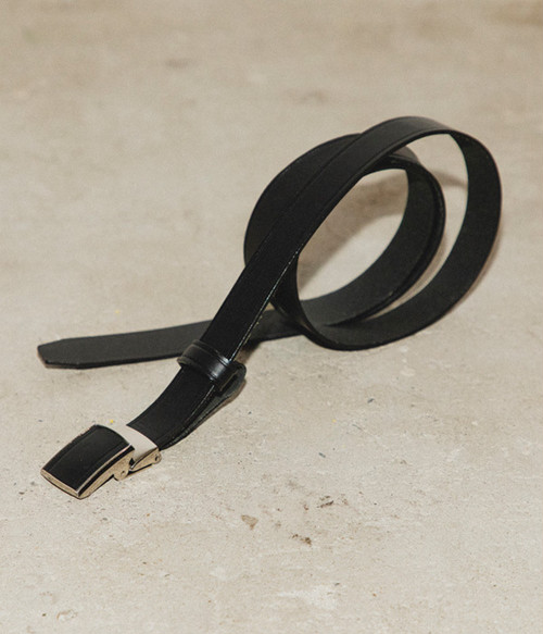 MAISON EUREKA / LEATHER BUCKLE BELT
